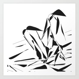 Sexy Feet at white room Art Print