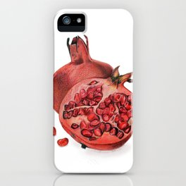 Pomegranates Illustration iPhone Case