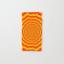 Big Bang in Red and Yellow Hand & Bath Towel