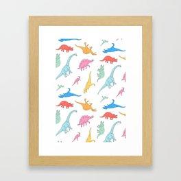 Dino Doodles Framed Art Print