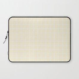 Cornsilk - pink color - White Lines Grid Pattern Laptop Sleeve
