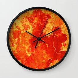 Warm blast Wall Clock