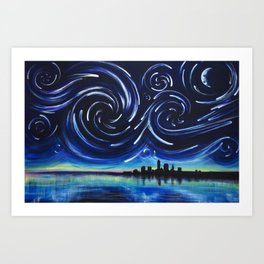 Starry Night in Cleveland Art Print