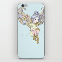steam punk iPhone & iPod Skins featuring Steam-punk Fairy by Cloud 9 Art Prints