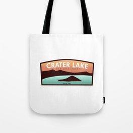 Crater Lake Badge Tote Bag