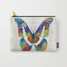 Colorful Butterfly Art by Sharon Cummings Carry-All Pouch
