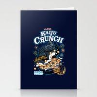kaiju Stationery Cards featuring Kaiju Crunch by Matt Dearden
