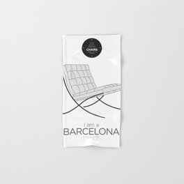 Mies' Barcelona chair (minimalistic version) Hand & Bath Towel