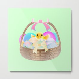 """Easter Chick"" Metal Print"
