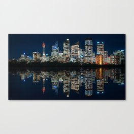 Ultrawide Sydney Waterfront Skyline Canvas Print