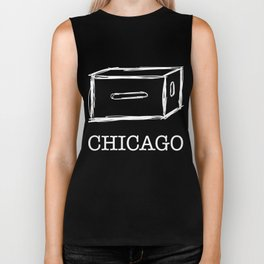 Chicago apple box (white) Biker Tank