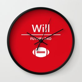 Will Future Pro - Red and White Wall Clock