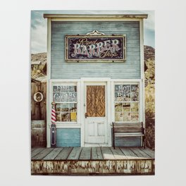 Barber Shop in the Country Poster