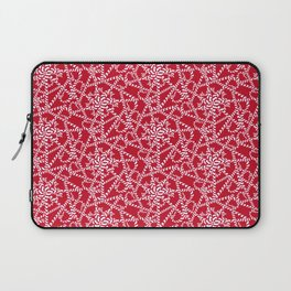Candy cane flower pattern 2a Laptop Sleeve