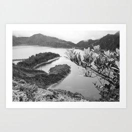 Lac Azores Art Print