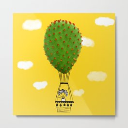 air balloon cactus Metal Print