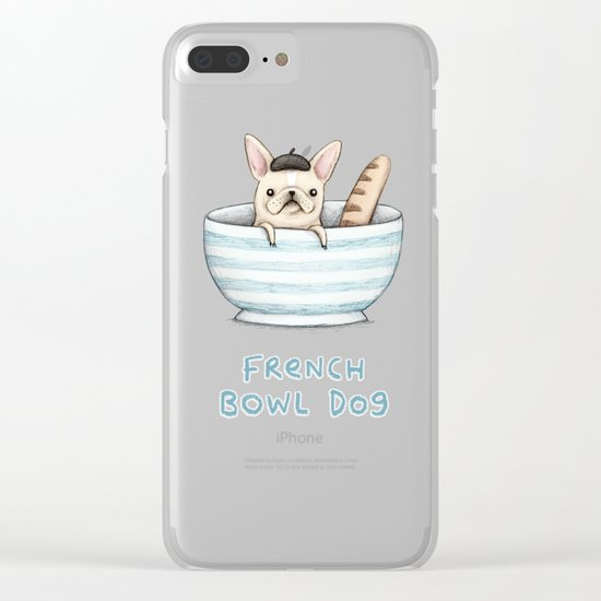French Bowl Dog Clear iPhone Case