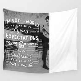 Bruce Says: Expectations Wall Tapestry