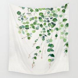 Eucalyptus Watercolor Wall Tapestry