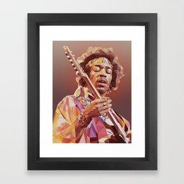 Jimi Hendrix Guitar God Framed Art Print