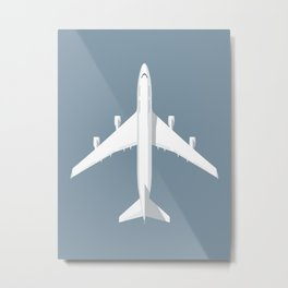 747-400 Jumbo Jet Airliner Aircraft - Slate Metal Print