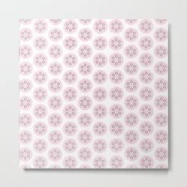 Pink Puff Pattern Metal Print