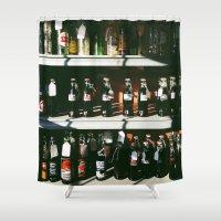 coke Shower Curtains featuring Vintage Coke Bottles by Michelle & Chris Gerard