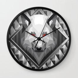 Wolf Head Trophy 2 Wall Clock