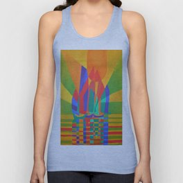 Dreamboat - Cubist Junk In Primary Colors Unisex Tank Top