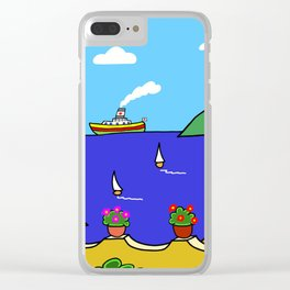 Mediterranean Holiday Clear iPhone Case
