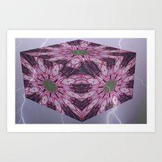 stormy roses Art Print