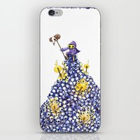 skeletor iPhone & iPod Skins featuring Skeletor Atop a Throne of Skulls by Keith Noordzy