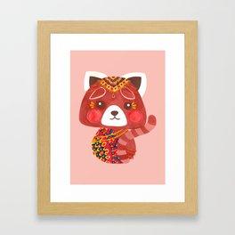Jessica The Cute Red Panda Framed Art Print