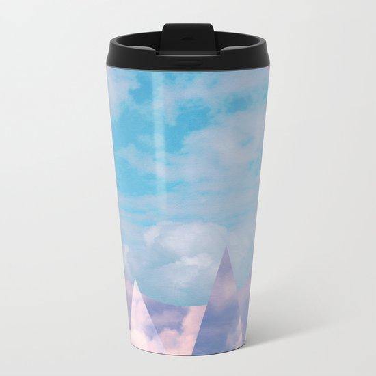 Clouds and Mountains Metal Travel Mug