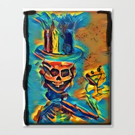 HEWGE SKELETON PARTY GUY DRINKING MARTINI Canvas Print
