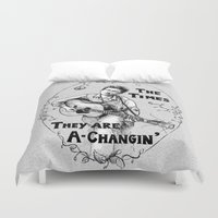 dylan Duvet Covers featuring Bob Dylan by Required Animals