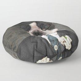 Sir Duncan - Boston Terrier Portrait Floor Pillow
