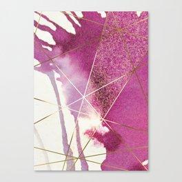 PURPLE PINK FRAGMENTAL Canvas Print