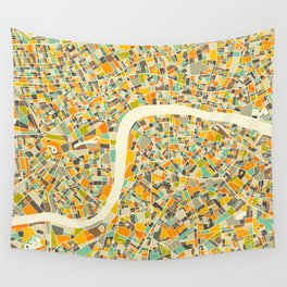 LONDON MAP Wall Tapestry