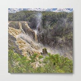 Roaring water at Barron Falls Metal Print