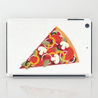 miles davis iPad Cases featuring PIZZA POWER - VEGO VERSION by Daisy Beatrice