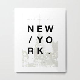 New York. Metal Print