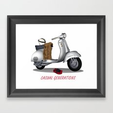 CASUAL GENERATION Framed Art Print