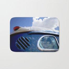 VINTAGE - Cool Vintage Classic Blue Bus Bath Mat