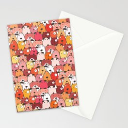 Dog Pattern Pop-Art Stationery Cards