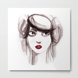 woman ink 03 Metal Print