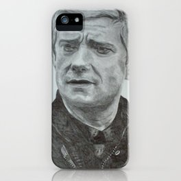 John Watson - Pencil Drawing iPhone Case