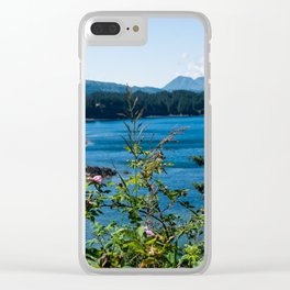 Alaska Pink Flowers Clear iPhone Case