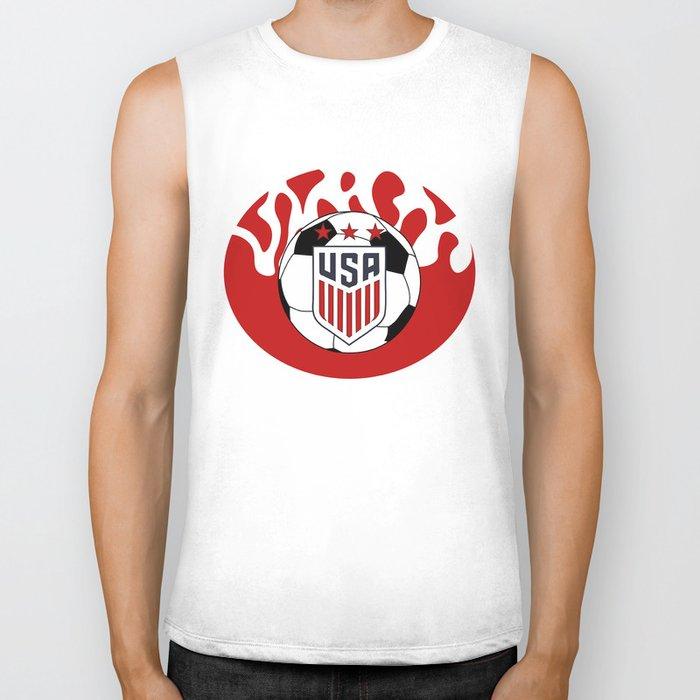 United States Soccer Biker Tank