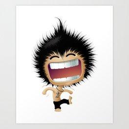 Mr. Zhong: Hahaha Art Print